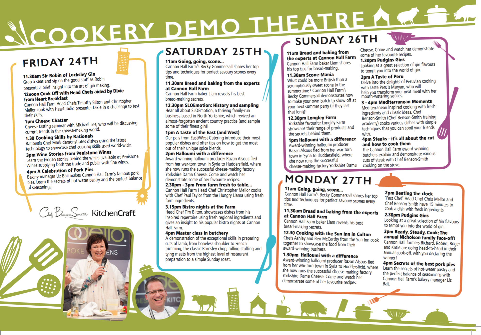 food festival cookery demos