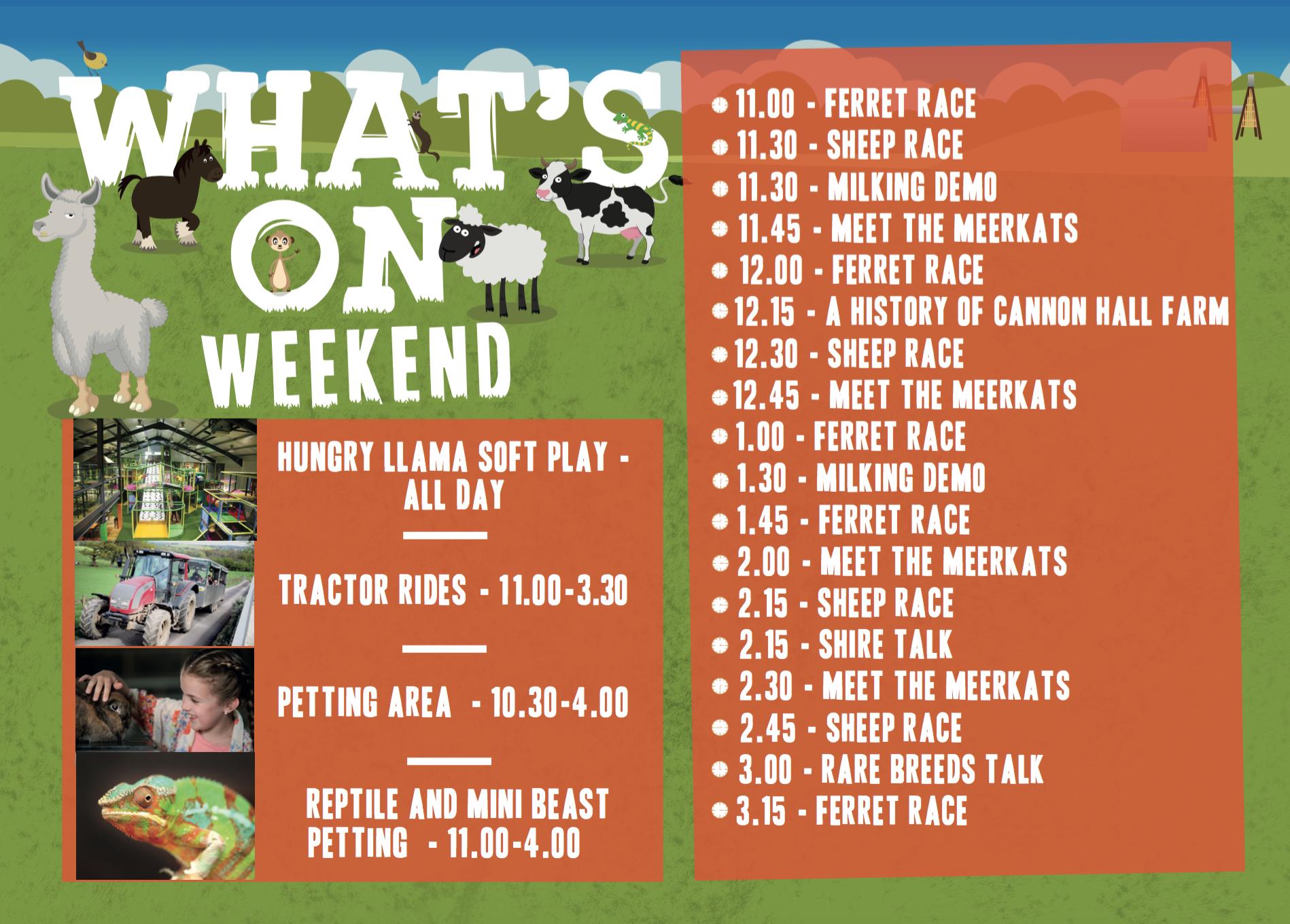 Weekend event sheet DECEMBER